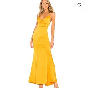 Lovers and friends gown in golden color